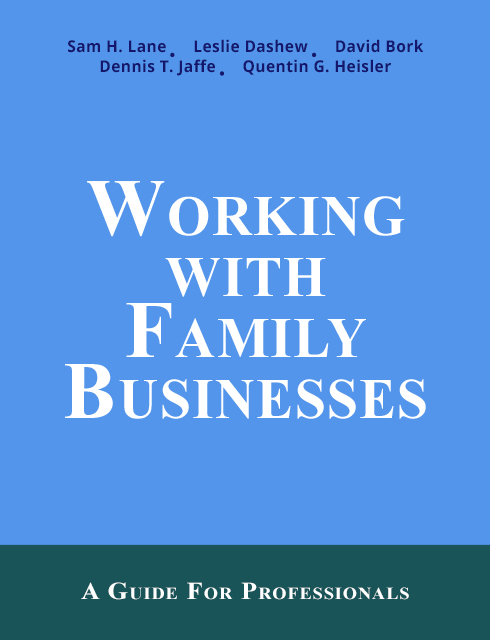 Working with family businesses book cover