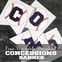 Free Baseball Concessions Banner