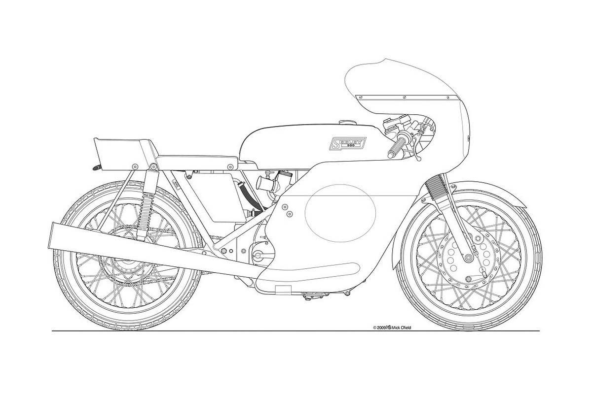 Simple Motorcycle Drawing Pictures To Pin