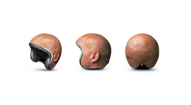 Human-Head-Motorcycle-Helmet