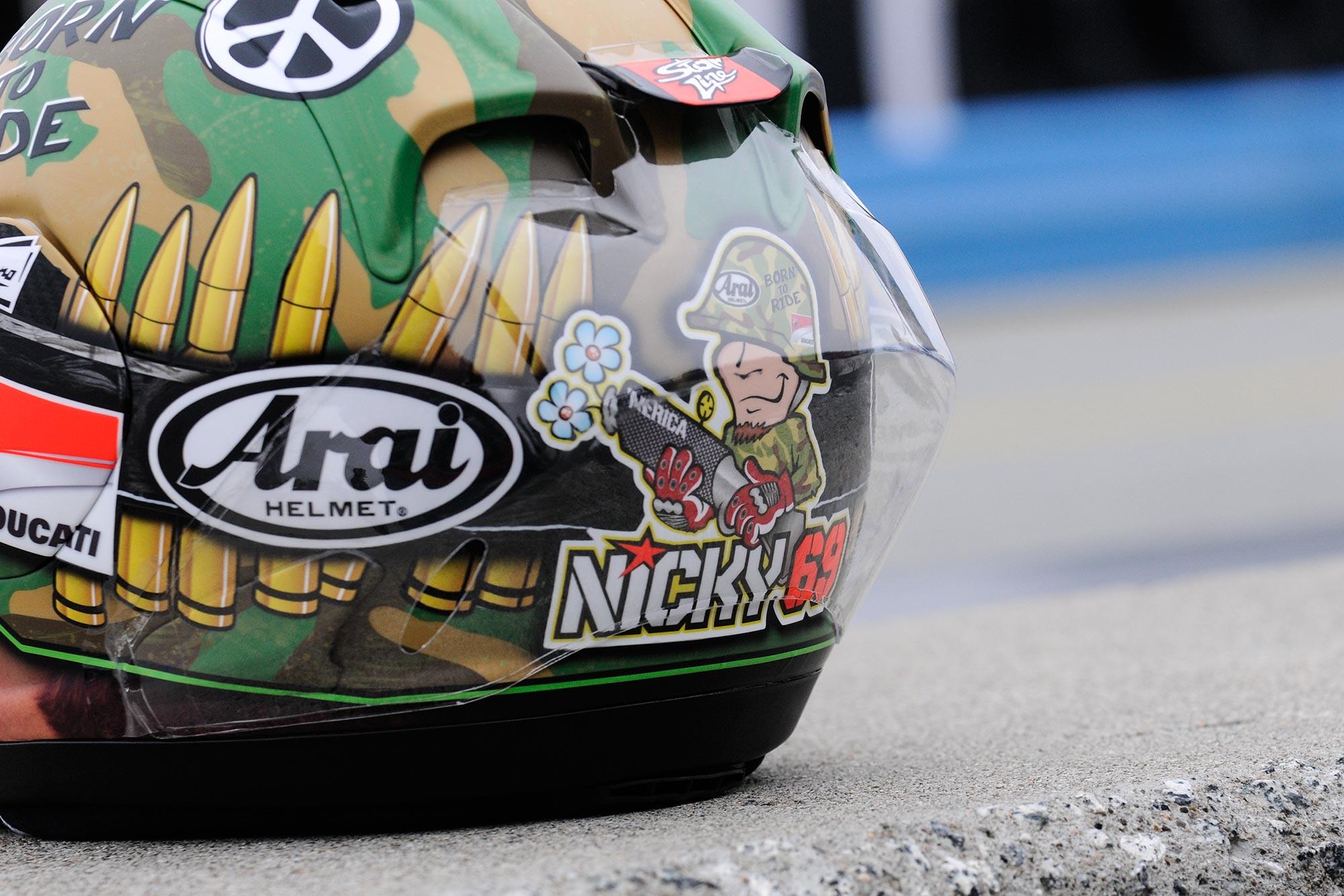 Photos: Nicky Hayden's Laguna Seca Helmet - Asphalt & Rubber