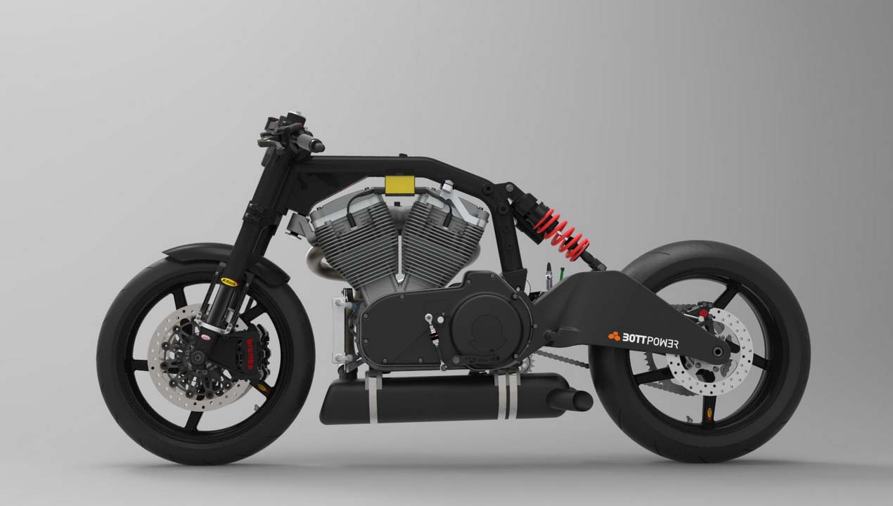 bottpower xc1 cafe racer takes shape asphalt rubber. Black Bedroom Furniture Sets. Home Design Ideas