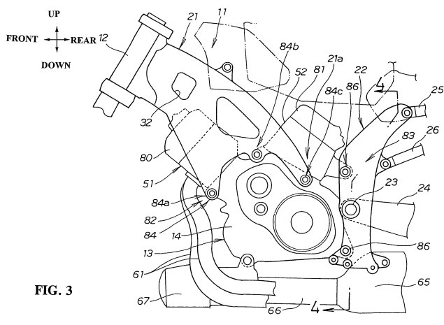 Honda-motorcycle-monocoque-chassis-design-patent-03
