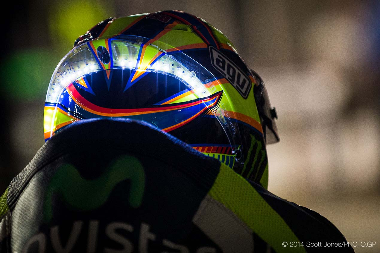Photos of Valentino Rossi's LED Helmet from Qatar ...