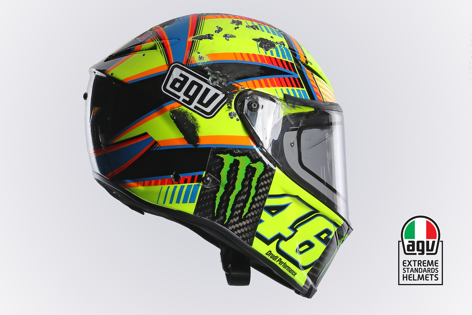 agv helmets analyzes valentino rossi 39 s crash at aragon. Black Bedroom Furniture Sets. Home Design Ideas