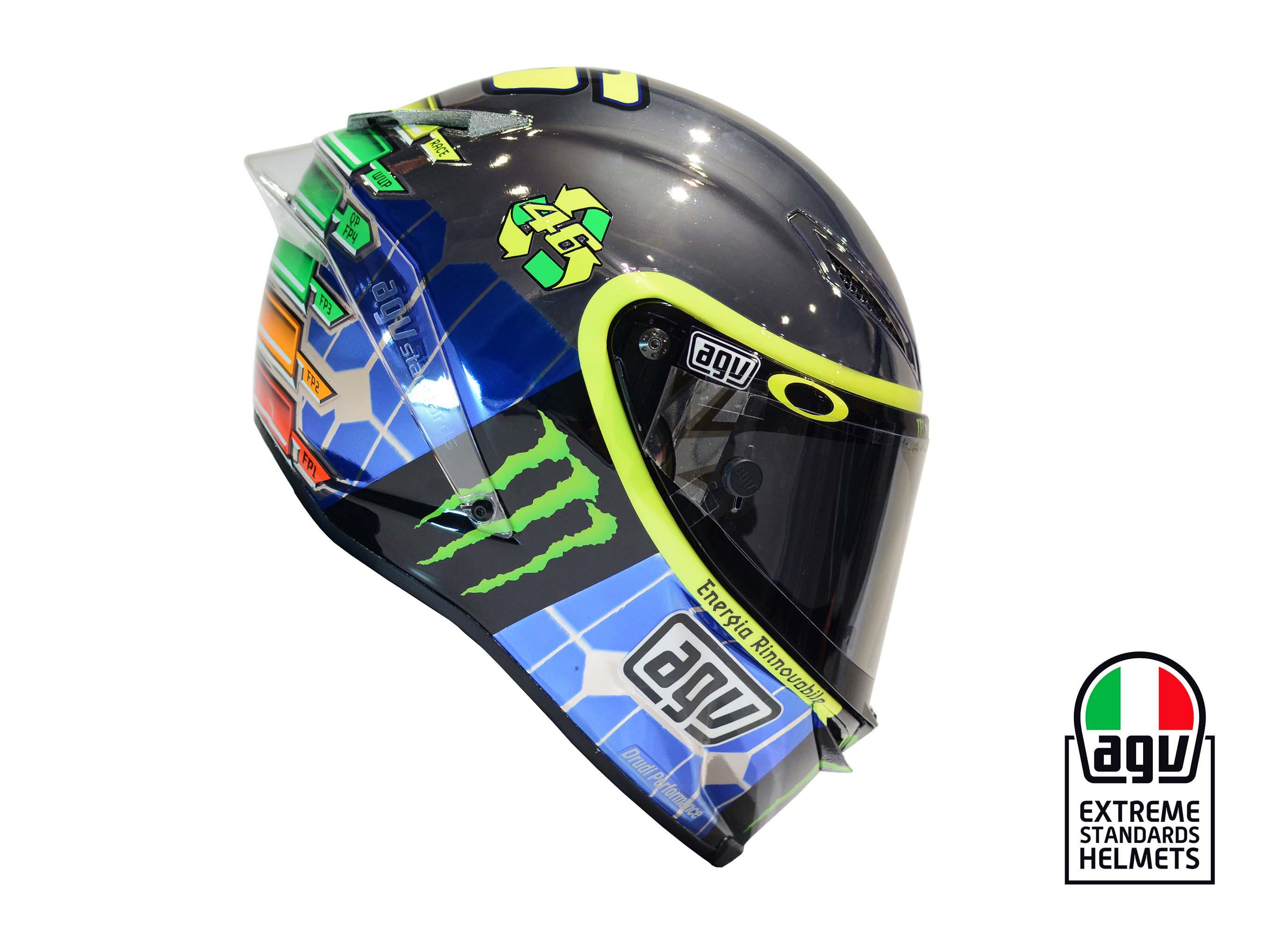 Valentino Rossi's 2015 Mugello AGV Helmet