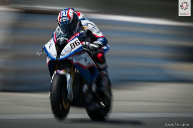 Ayrton Badovini BMW WSBK 2015 Laguna Seca