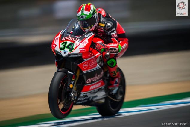 Davide Giugliano Ducati 2 WSBK 2015 Laguna Seca