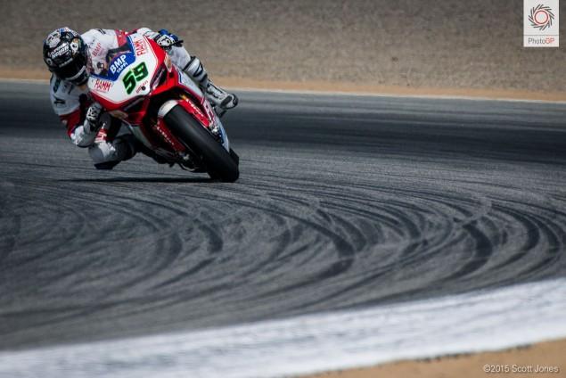 Niccolo Canepa Ducati WSBK 2015 Laguna Seca