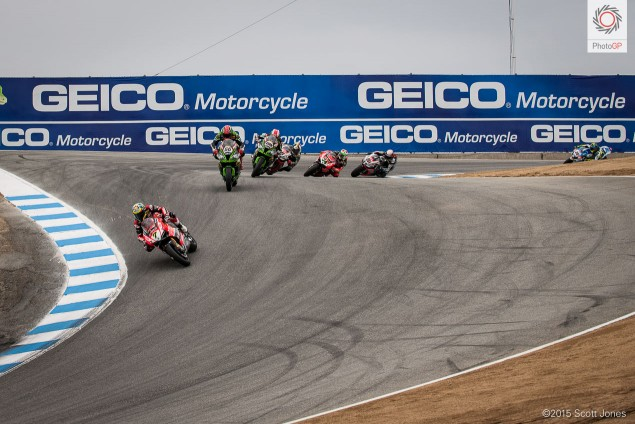 WSBK Laguna Seca Race 2 start