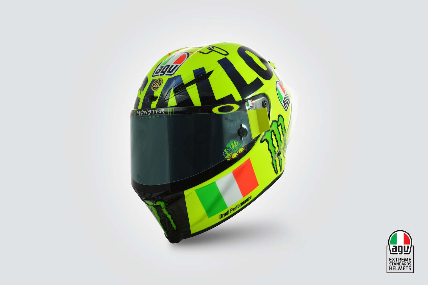 Ducati Yellow Helmet