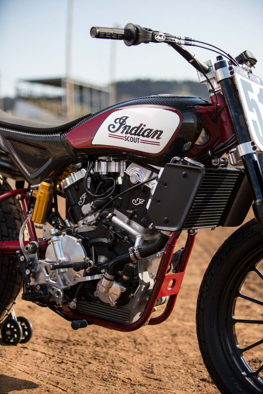 indian scout ftr750 flat track race bike debuts