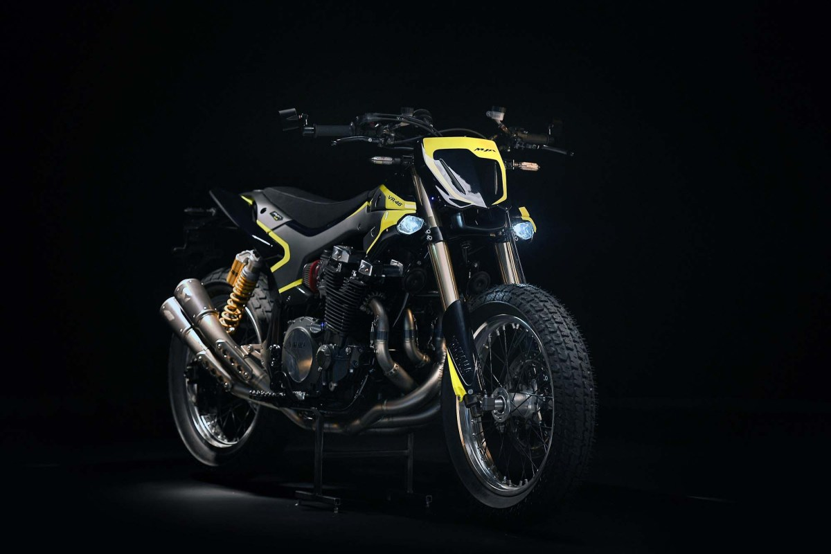 Valentino Rossi's Special Yamaha XJR1300 Flat Tracker