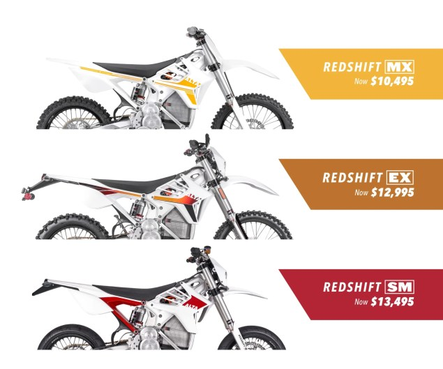 Alta Motors Drops Pricing on 2018 Redshift Lineup, Bigly