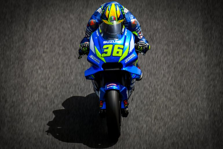 Joan Mir on the ECSTAR Suzuki GSX-RR MotoGP bike