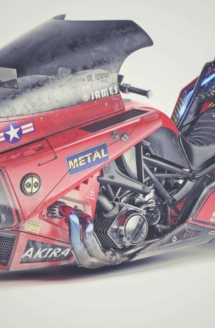 This Akira Motorcycle Concept by James Qiu Is Fire