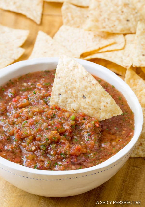 The Best Salsa Recipe (Quick, Healthy & Delicious!) via A Spicy Perspective