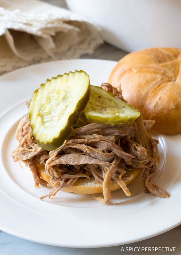 5 Ingredient Southern Slow Cooker Pulled Pork {A Spicy Perspective}