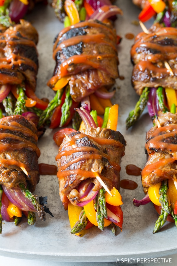 Low Carb Steak Fajita Rolls Ups {A Spicy Perspective}