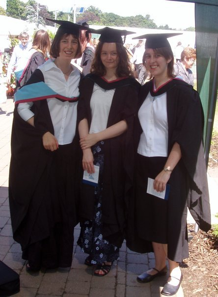 Graduation - 3 in gowns and hats