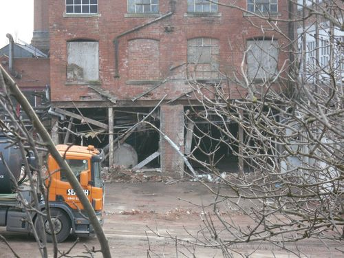 Old soap factory being demolished