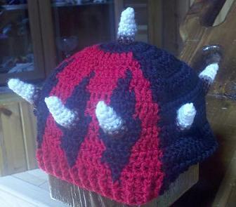 Darth Maul Star Wars crochet hat