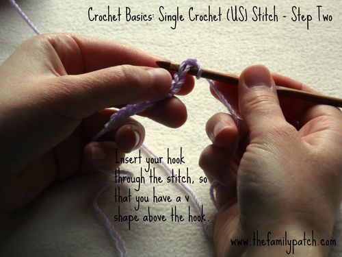 Family Patch Tutorial Single Crochet Step Two