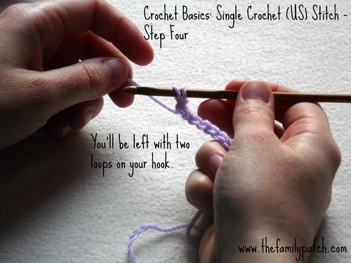 Family Patch Tutorial Single Crochet Step Four