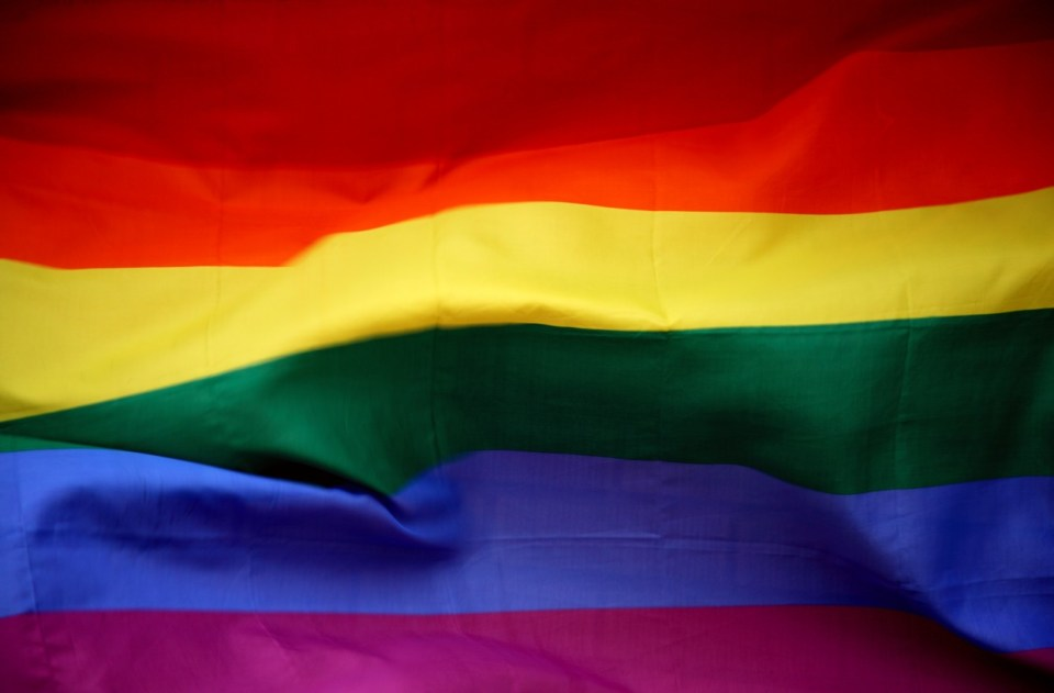 close up image of the pride rainbow flag