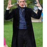 12th Doctor's Black Velvet Frock Coat