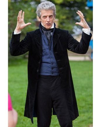 12th Doctor's Black Velvet Frock Coat