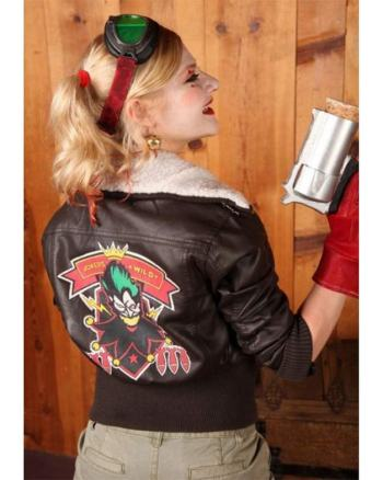 Harley Quinn Suicide Squad Bombshell Faux Leather Jacket.
