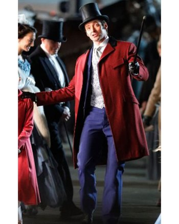 THE GREATEST SHOWMAN HUGH JACKMAN RED COAT