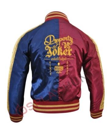 Suicide squad Harley Quinn Jacket Property of Joker Margot Robbie Bomber Jacket