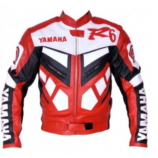 Yamaha R6 Racing Leather Biker Jacket