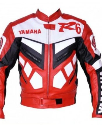 Yamaha R6 Racing Leather Biker Jacket