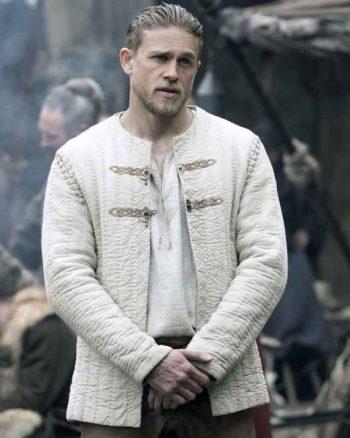 Charlie Hunnam Legends Of The Sword King Arthur Ivory Jacket