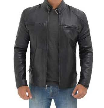 Vermont Black Real Leather Jacket