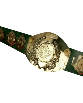 Old Intercontinental Championship Leather Belt Tito Style