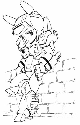 GBP-1 Girl (ink)