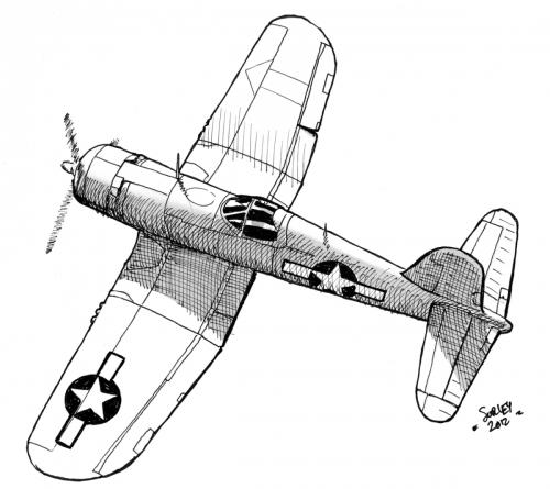 F-4U Corsair Sketch