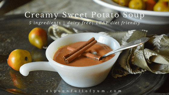 www.aspoonfullofyum.com | Creamy Sweet Potato Soup