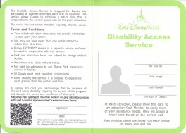 Image result for disneyland disability pass