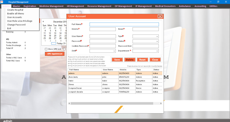 Order Pharmacy Electronic Facility