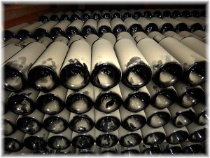 maipo dusty wine bottles