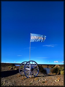 chalten argentine flag photo