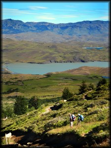 torres del paine hikers photo