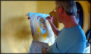 dad painting photo
