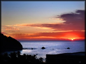mexico sunset red photo