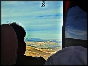 atacamas desert bus window view photo